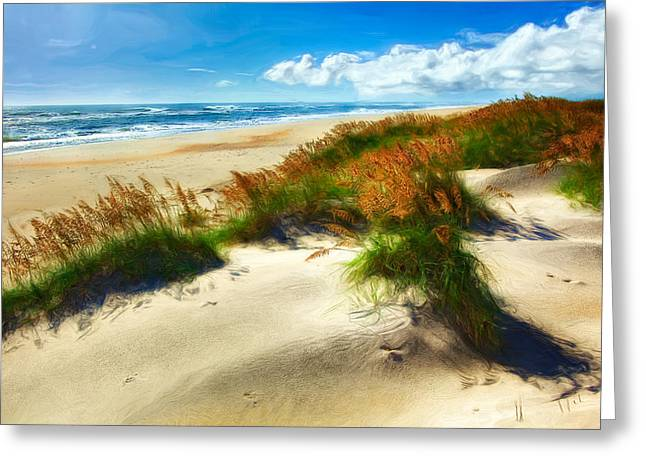 Seaside Serenity II - Outer Banks Greeting Card by Dan Carmichael