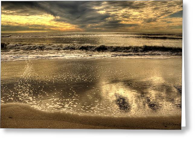 Greeting Card featuring the photograph Seaside Sunset by Julis Simo