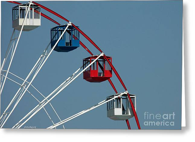 Seaside's Ferris Wheel Greeting Card by Sami Martin
