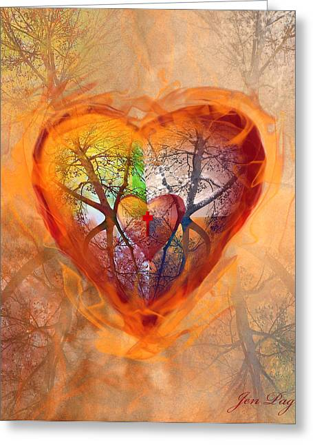 Season Of The Heart Greeting Card