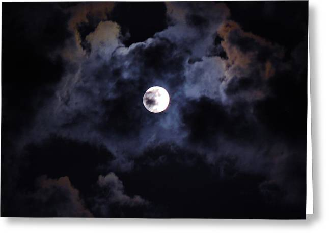 Seasonal Blue Moon IIi Greeting Card