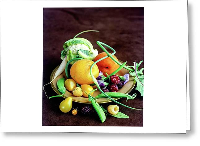 Seasonal Fruit And Vegetables Greeting Card