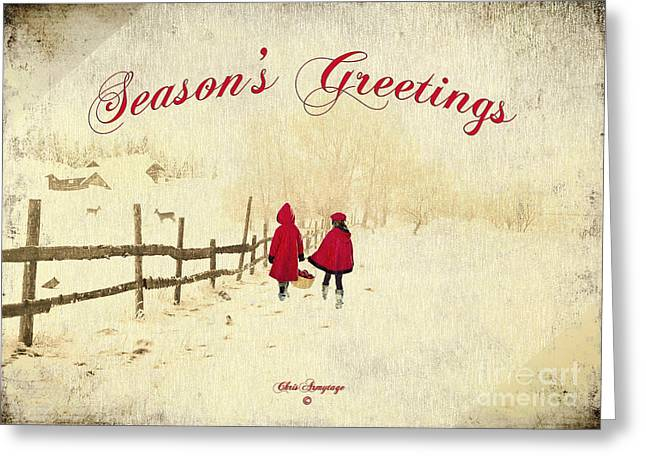 Greeting Card featuring the photograph Season's Greetings - Delivering Festive Cheer by Chris Armytage