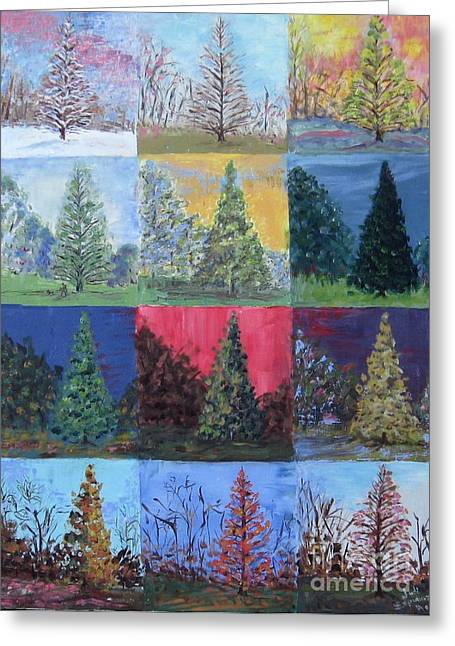 Seasons Of A Dawn Redwood - Sold Greeting Card
