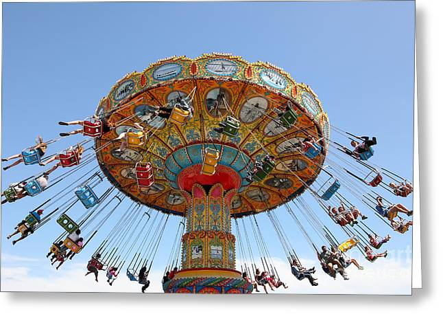 Seaswings At Santa Cruz Beach Boardwalk California 5d23901 Greeting Card by Wingsdomain Art and Photography