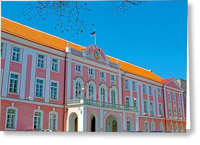 Seat Of Parliament In Old Town Tallinn-estonia Greeting Card by Ruth Hager