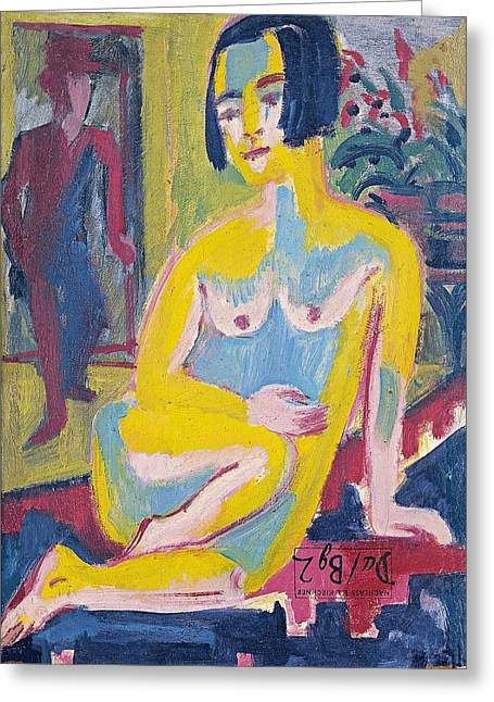 Seated Female Nude Greeting Card