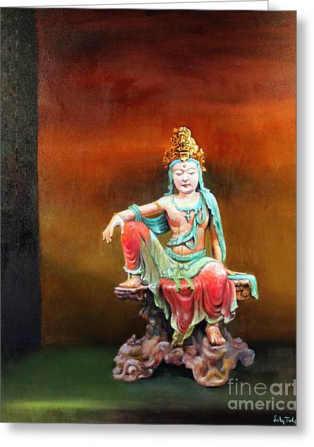Seated Kuan Yin Greeting Card