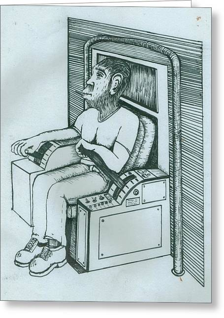 Seated Monkey Sketch Greeting Card