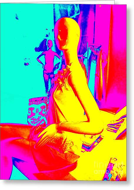 Seated Woman Greeting Card by Ed Weidman
