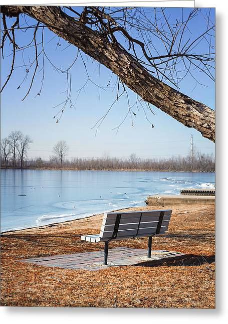Seating Bench Greeting Card