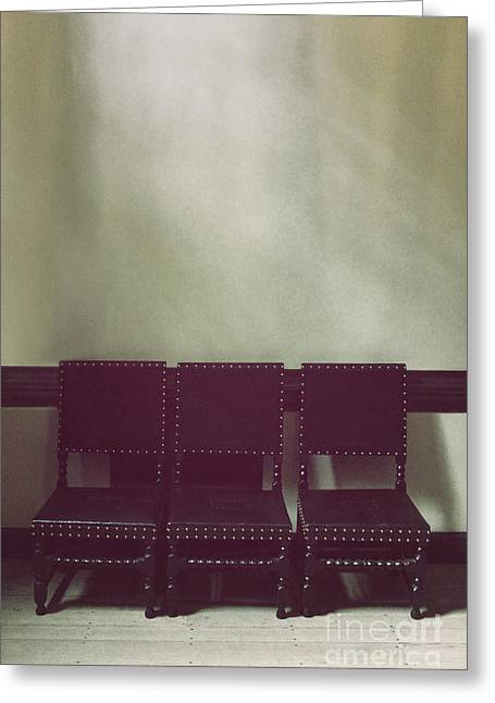 Seating For Three Greeting Card by Margie Hurwich