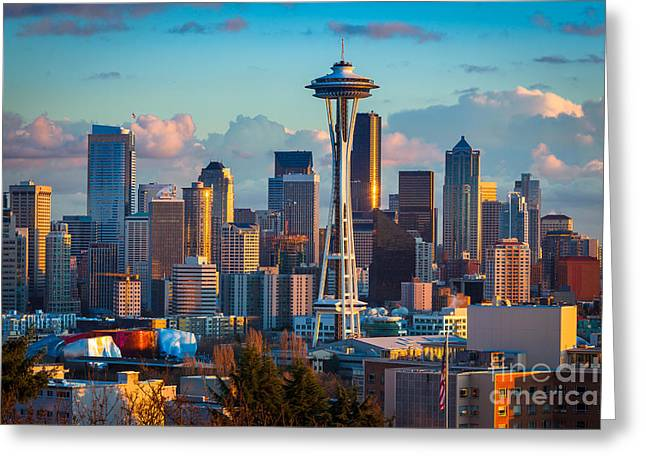 Seattle Afternoon Greeting Card by Inge Johnsson