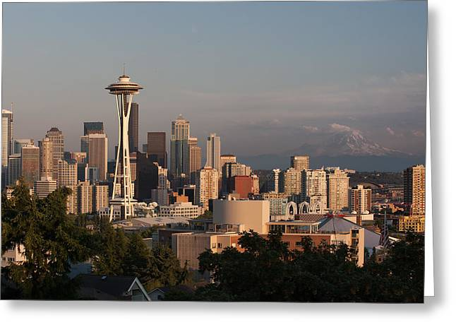 Seattle Afternoon Greeting Card by Jack Nevitt