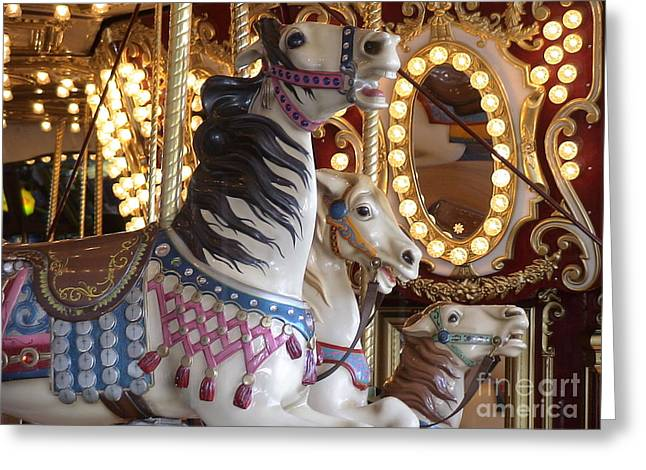 Seattle Carousel Greeting Card