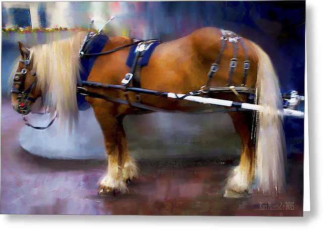 Seattle Carriage Horse Greeting Card