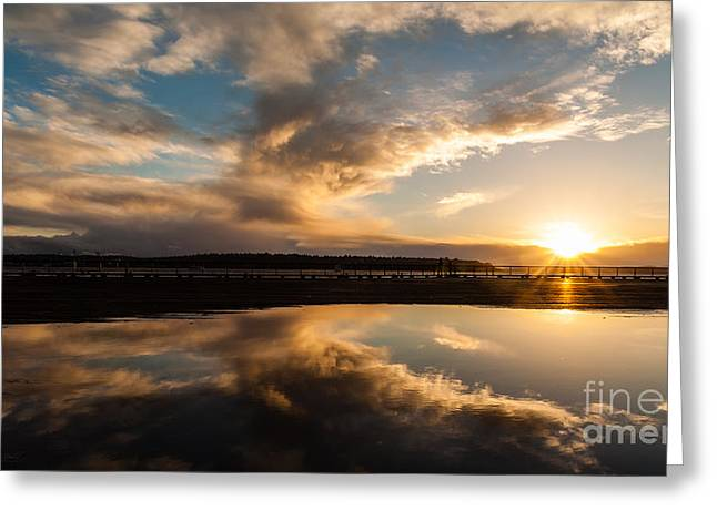 Seattle Clouds Sunstar Greeting Card