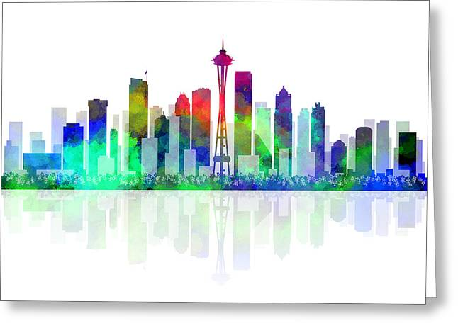 Seattle Evergreen Greeting Card by Daniel Hagerman