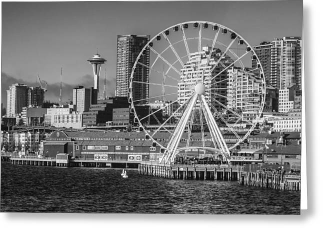 Seattle's Great Wheel Greeting Card