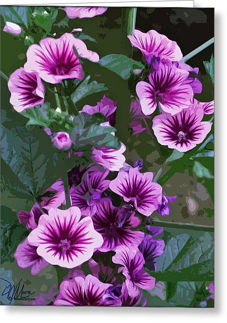 Seattle Hollyhocks Greeting Card