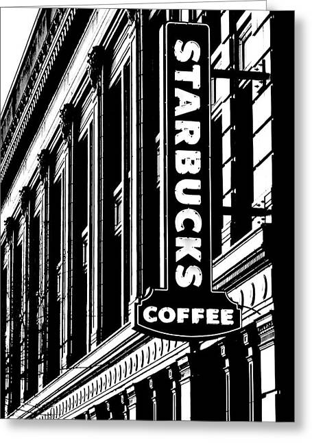 Seattle Icon Black And White Greeting Card