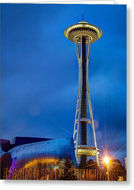 Seattle Impressions Greeting Card by Wade Brooks