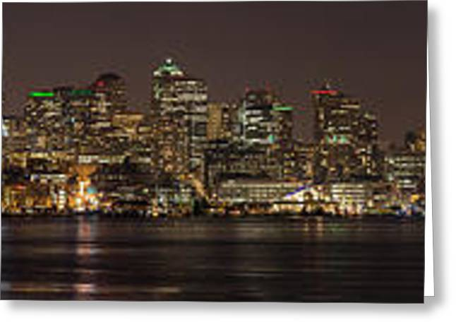 Seattle Lake Union Winter Reflection Greeting Card