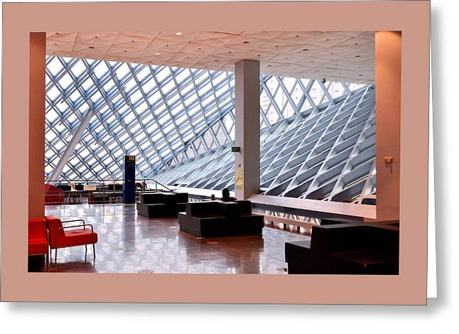 Seattle Library Reading Room Greeting Card by Allen Beatty
