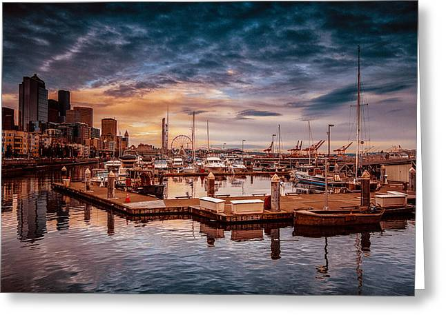 Seattle Marinescape. Greeting Card
