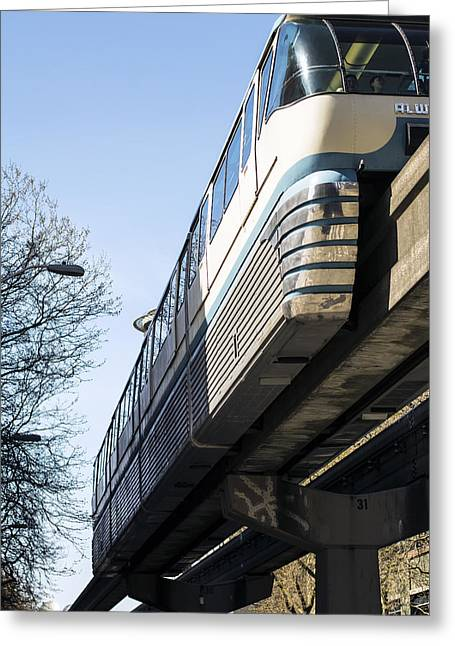 Seattle Monorail Greeting Card by Michael DeMello
