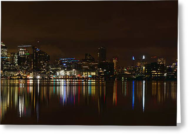 Seattle Panorama Greeting Card by Eddie Yerkish