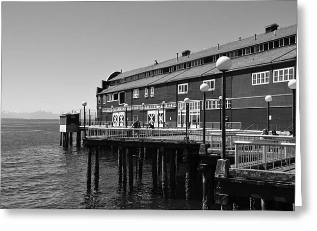 Greeting Card featuring the photograph Seattle Pier by Kirt Tisdale