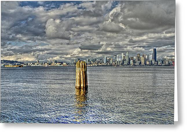 Seattle Skyline And Cityscape Greeting Card