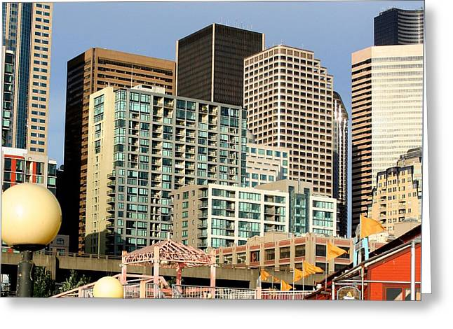Seattle Skyline. Greeting Card by Art Block Collections