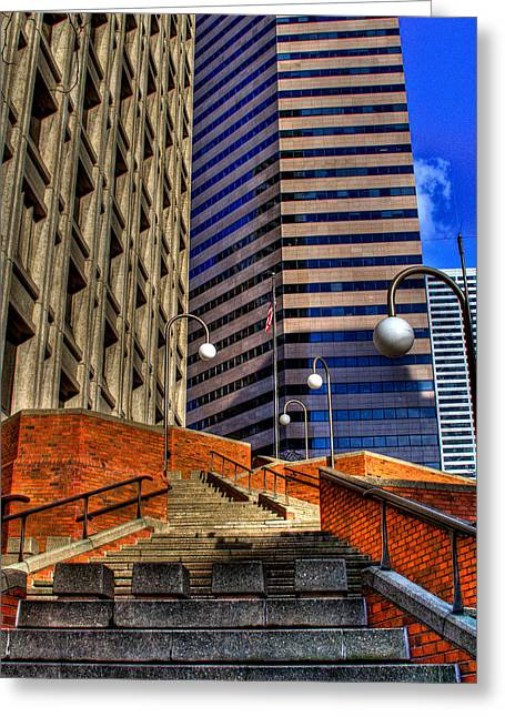 Seattle Skyscrapers IIi Greeting Card by David Patterson