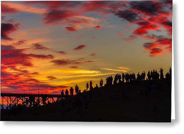 Seattle Summer Solstice Greeting Card by Ken Stanback