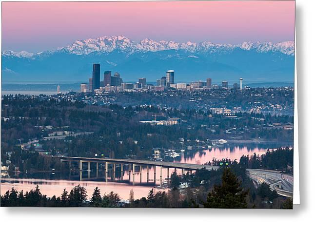 Seattle Sunrise Greeting Card