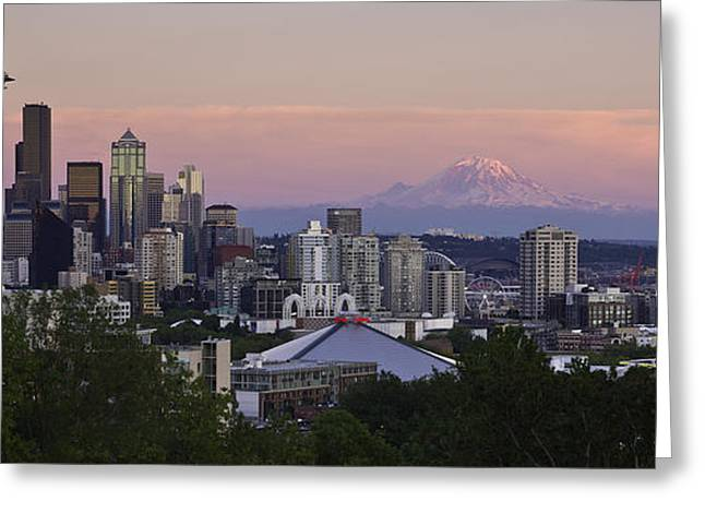 Seattle Sunset - Kerry Park Greeting Card