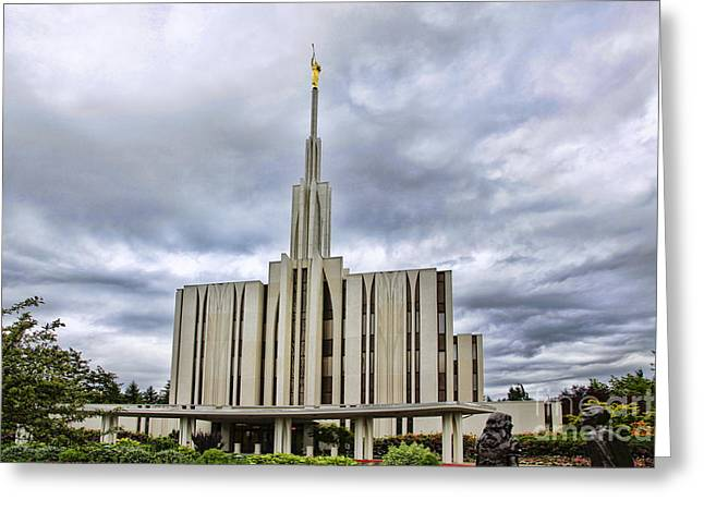 Seattle Temple Greeting Card
