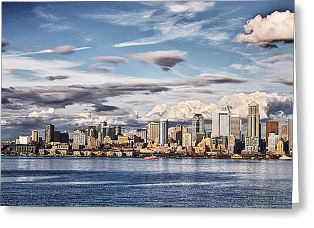 Seattle Washington - Skyline 4 Greeting Card