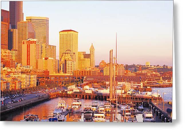 Seattle Washington Usa Greeting Card by Panoramic Images