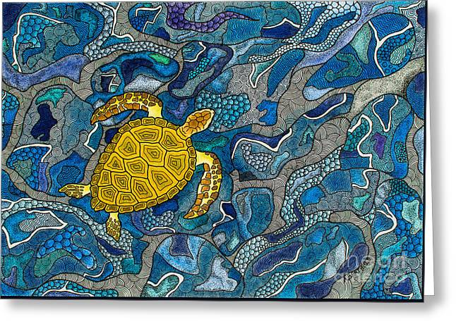 Sea Turtle Impression Greeting Card by Andreas Berthold