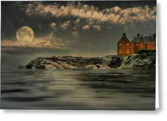 Seaview Moon Greeting Card by Robin-Lee Vieira