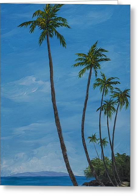 Seawall Palms Greeting Card by Darice Machel McGuire