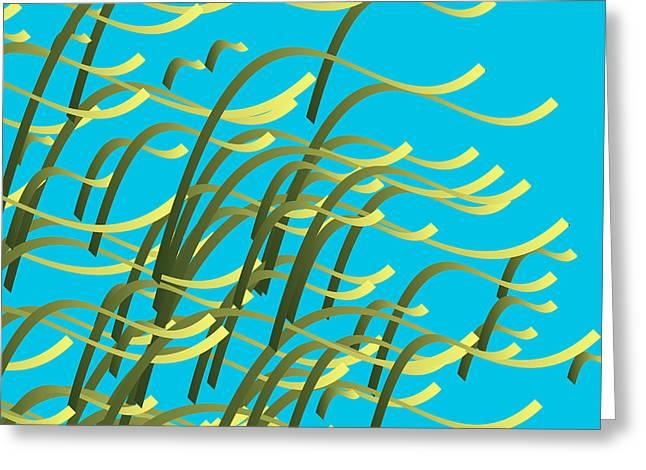 Seaweed On Aqua Greeting Card