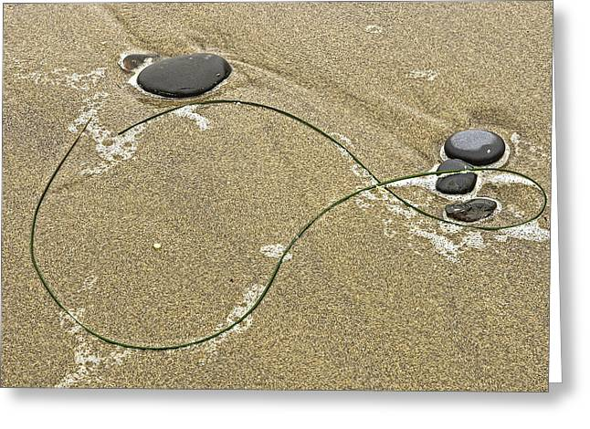 Seaweed Sand And Stones Greeting Card by Judi Baker