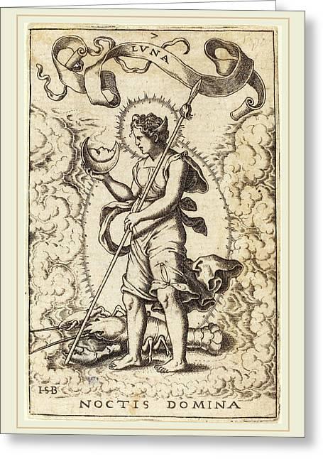 Sebald Beham German, 1500-1550, Luna Greeting Card by Litz Collection