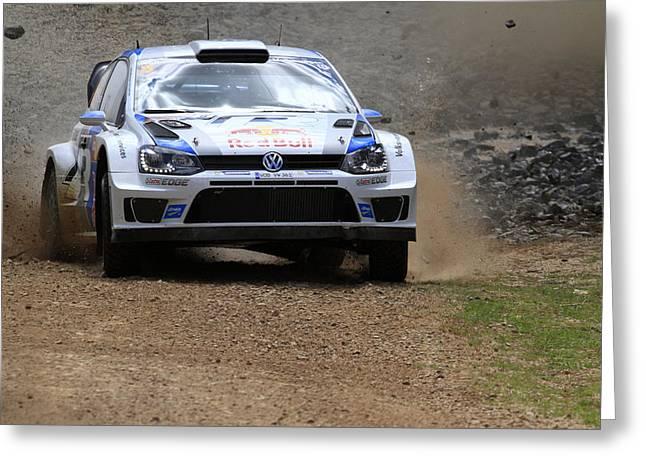 Sebastian Ogier Fia World Rally Championship Australia Greeting Card