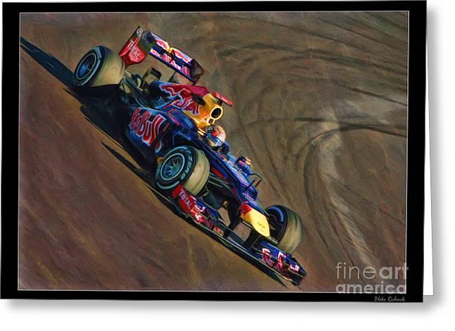 Sebastian Vettel - Red Bull Greeting Card