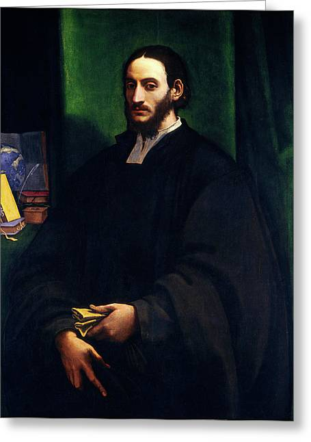 Sebastiano Del Piombo, Portrait Of A Humanist Greeting Card by Litz Collection